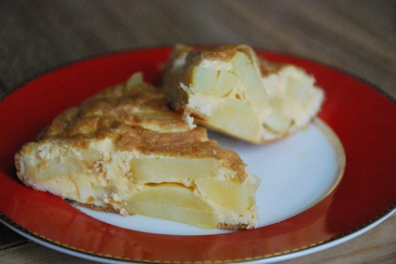 Tortilla Espanola (Spaanse aardappelomelet)