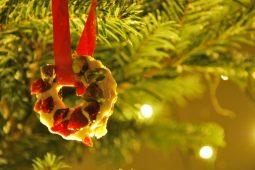 Feestdagen: kerstkransjes met witte chocolade, cranberry's en pistachenoten