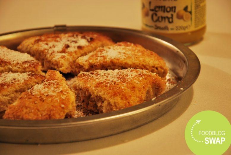 Foodblogswap december: limoen kokos scones
