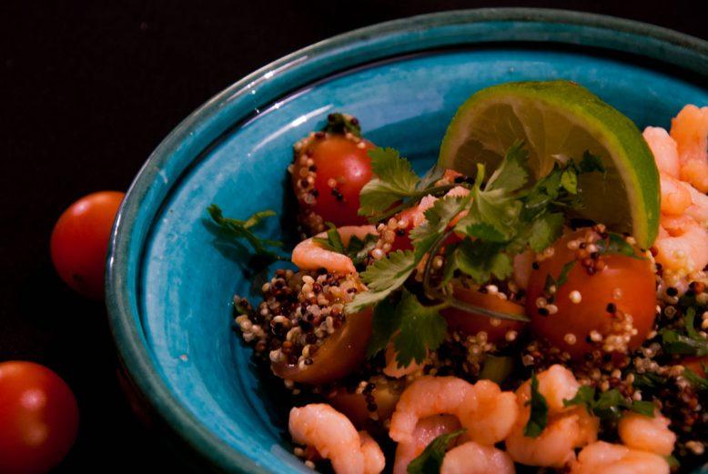 Quick & easy: Quinoa salade met garnalen