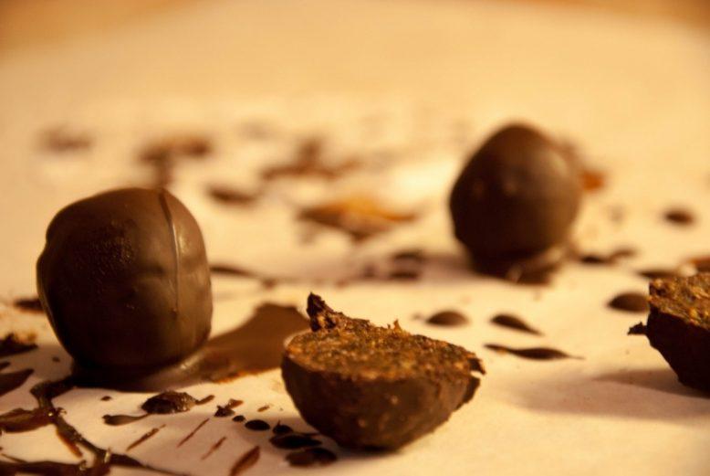 Gezondere chocolade truffels zonder suiker