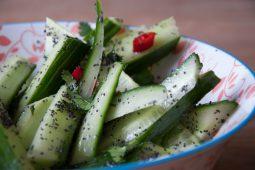 Quick & easy: frisse komkommersalade