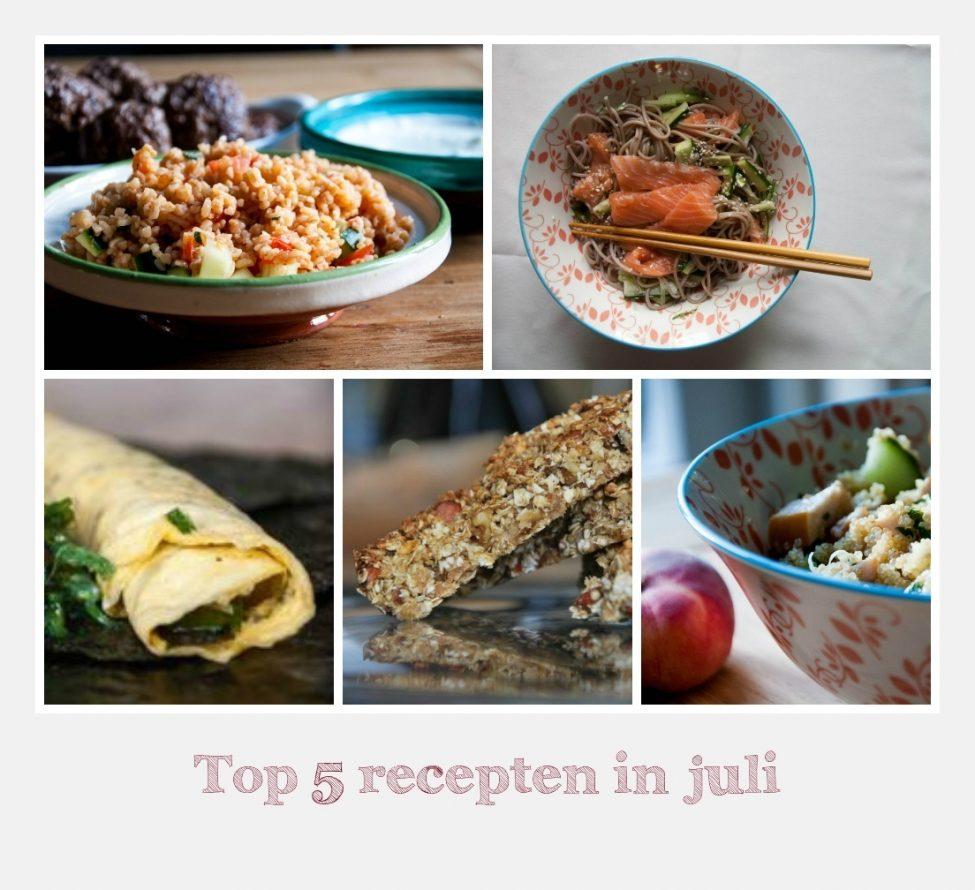 Top 5 juli: dit waren de populairste gerechten