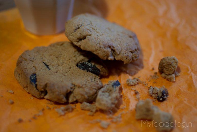 Chocolate chip cookies met pindakaas