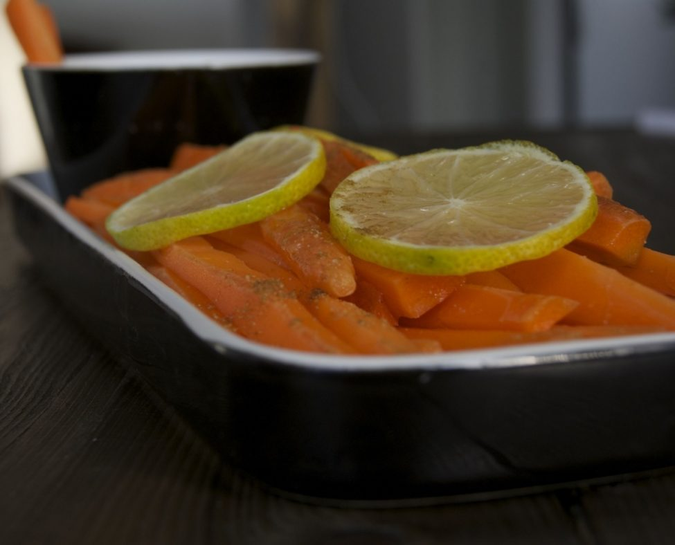 Healthy wortelsnack