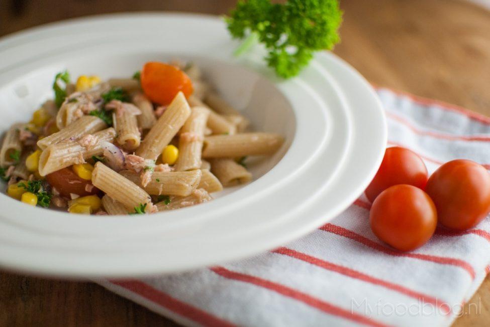 Makkelijke pastasalade met tonijn