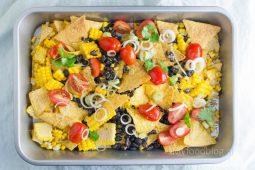 Mexicaanse nacho schotel