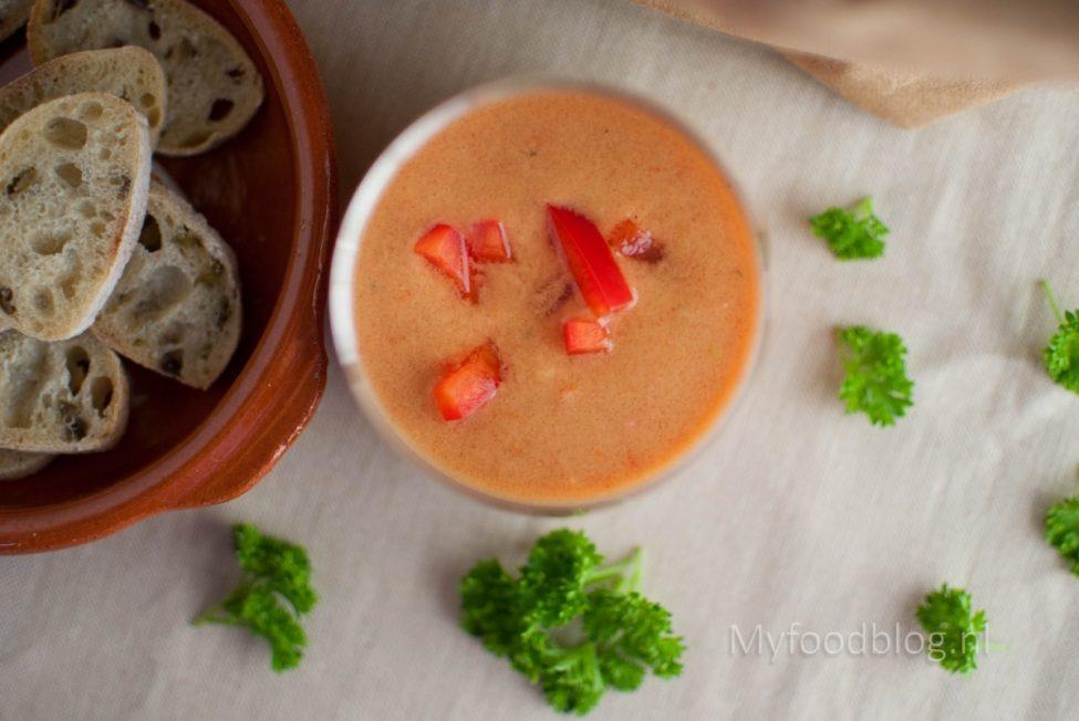 Klassieke Spaanse gazpacho