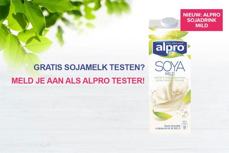 Gratis sojadrink testen? Meld je aan als Alpro tester!