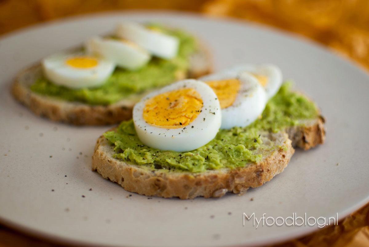 lunchgerechten met ei