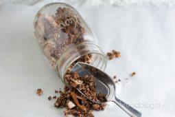 Chocolade kokos granola