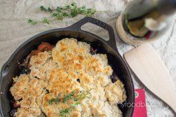 Vegetarische 'boeuf' bourgignon met een heerlijk krokant korstje