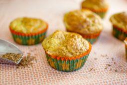 Courgette feta muffins