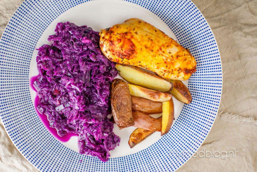 Kip en aardappels uit de oven