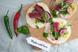 Wraps met biefstuk en groentesalsa