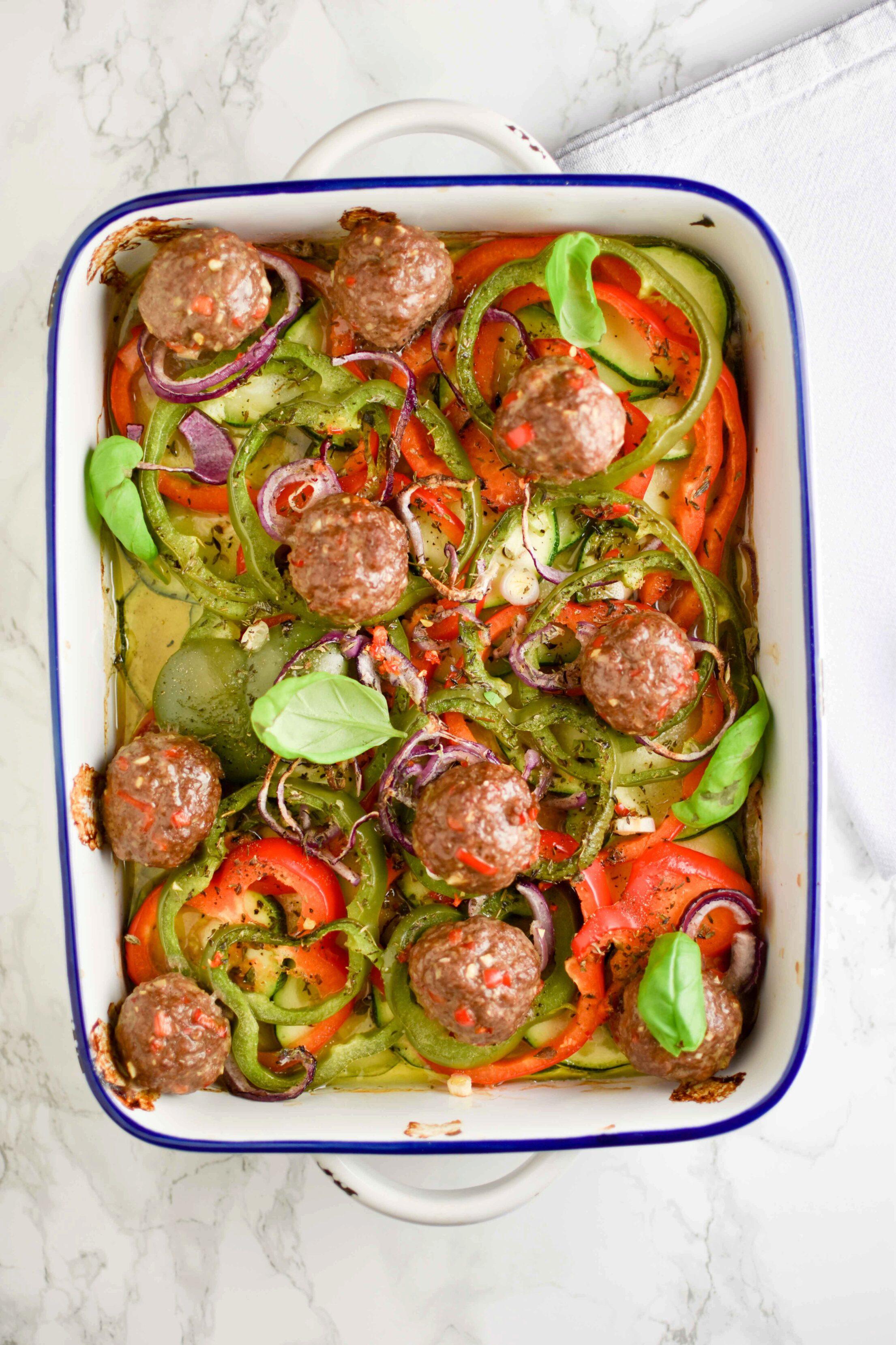 Ovenschotel groenten & gehaktballen