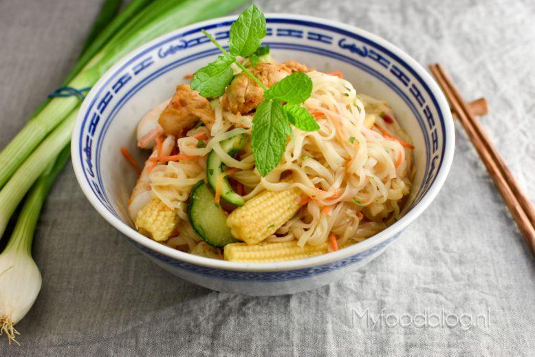 Vietnamese noodle salade