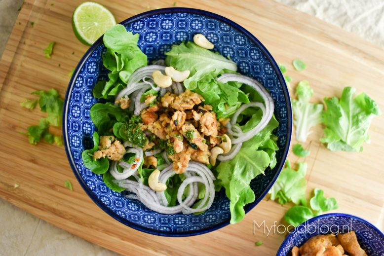 Thaise larb salade