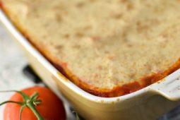 Cannelloni met gehakt en een romige tomatensaus