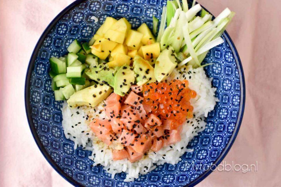 cdceef23a21 Poke bowl met zalm en avocado - My Food Blog