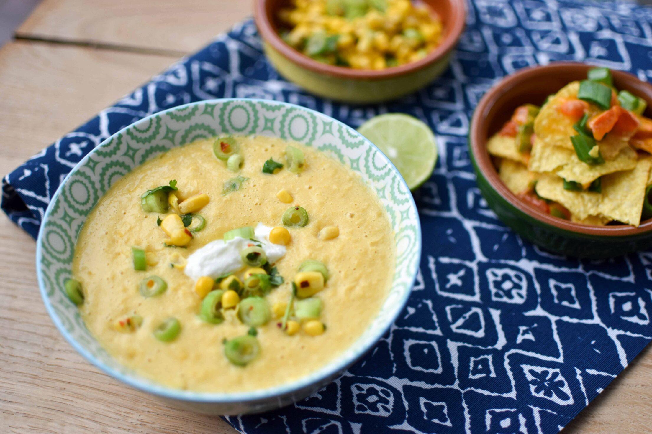Mexicaanse maïssoep