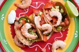 Soft shell taco's met garnalen