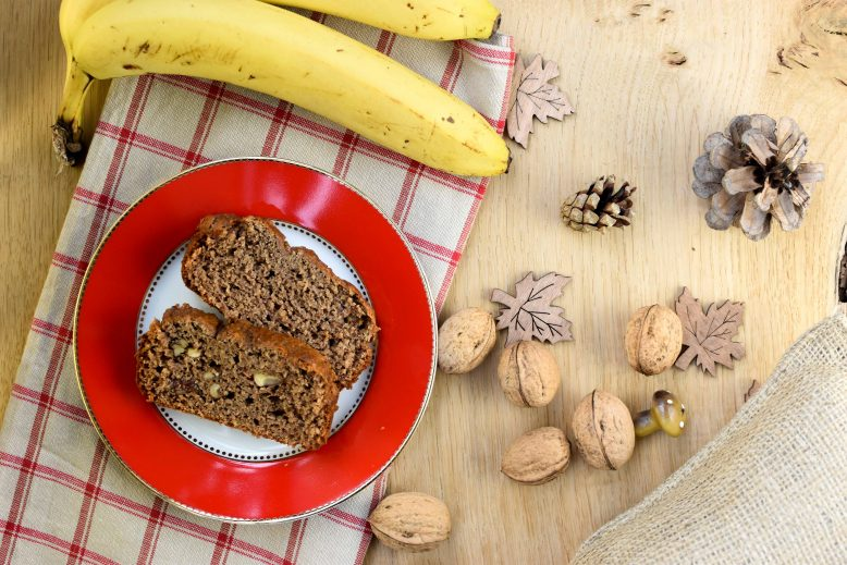 Speculaascake met dadels, walnoten en banaan (zonder geraffineerde suikers!)