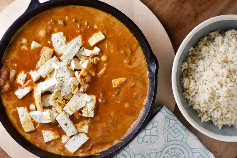 Tofu curry korma