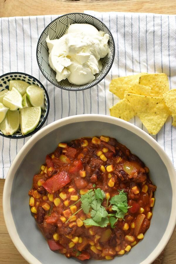 Chili sin carne (chili con carne zonder vlees)