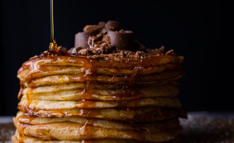 pancakes syrup chocolate