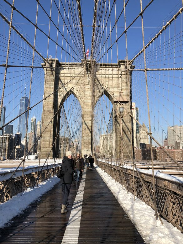 Goedkoop naar New York - brooklyn bridge