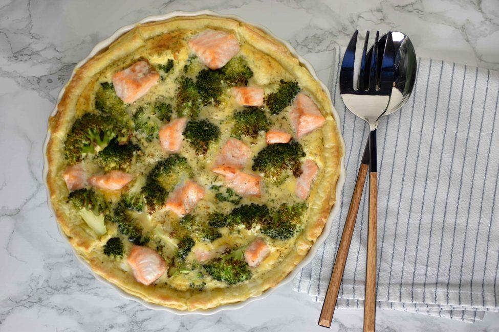Broccoli zalm quiche