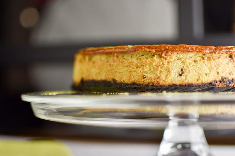 cheesecake met oreo en matcha