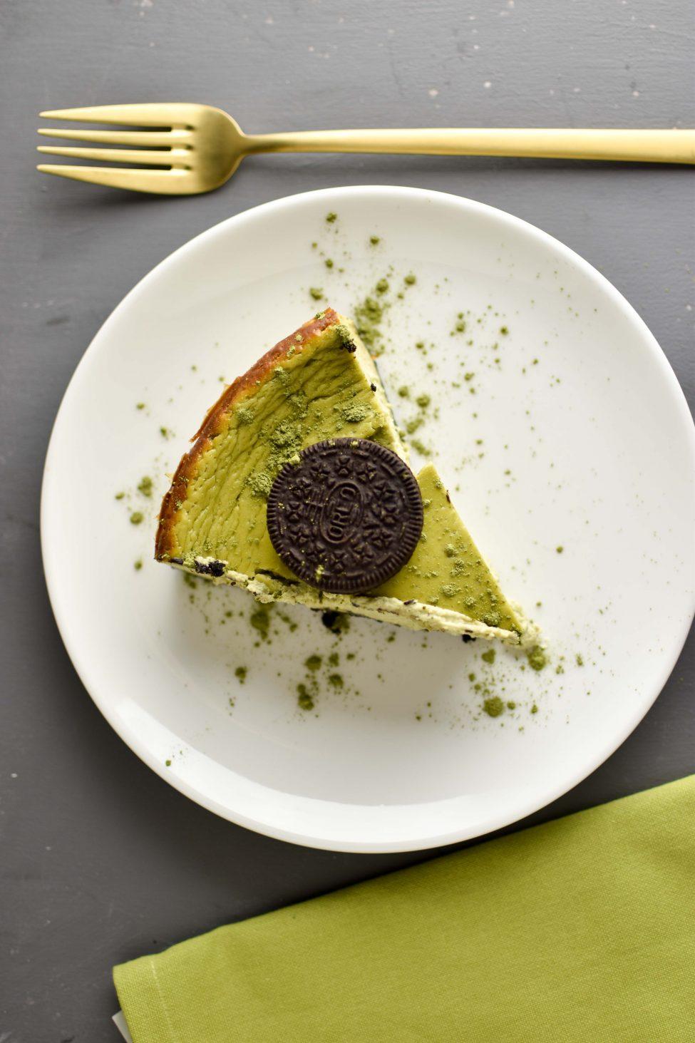 Matcha Oreo cheesecake