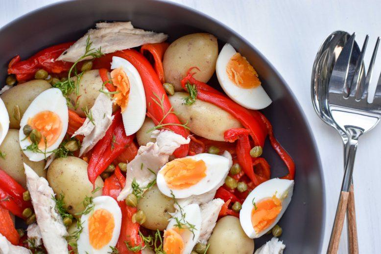 recept salade makreel