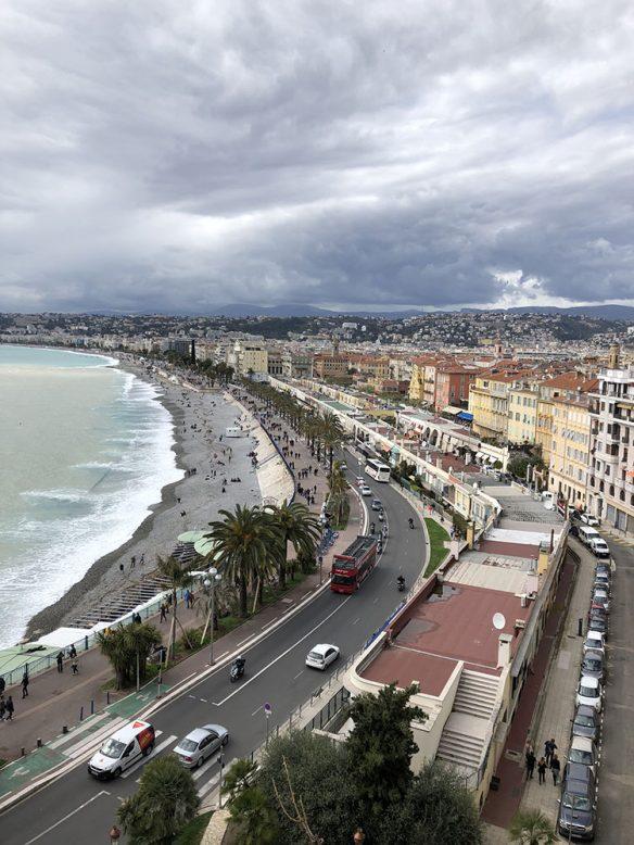 Vanaf het kasteel in Nice