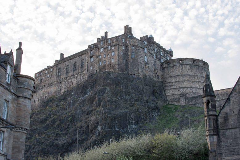 het kasteel in Edinburgh