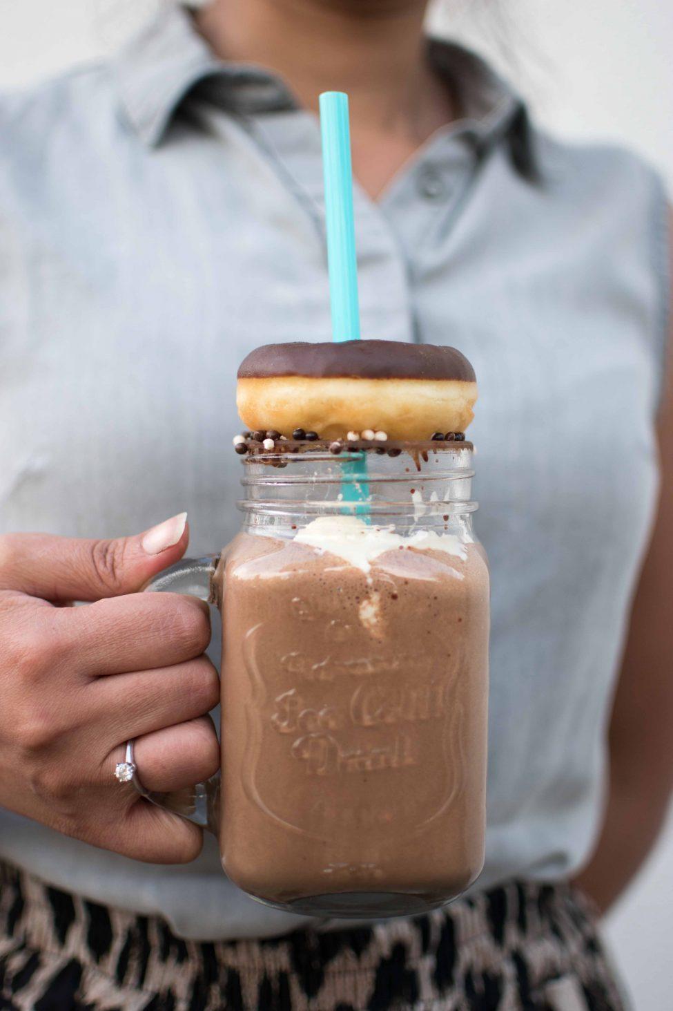 Chocolade freakshake (extravagante chocolade milkshake)