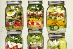 8 x salade in een pot