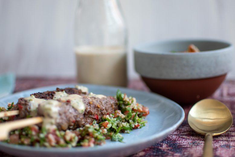 Midden-Oosterse maaltijd - zelf köfte maken