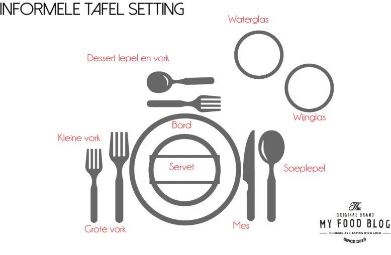 informele tafel setting - tafel dekken en etiquette