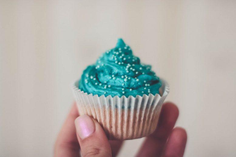 blauwe cupcakes