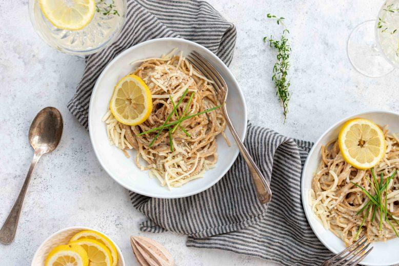 veganistische pasta alfredo - recept